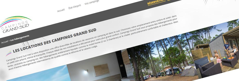 Campings Grand Sud – WordPress