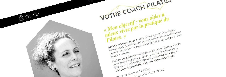 C'Pilates Coaching – Site vitrine WordPress