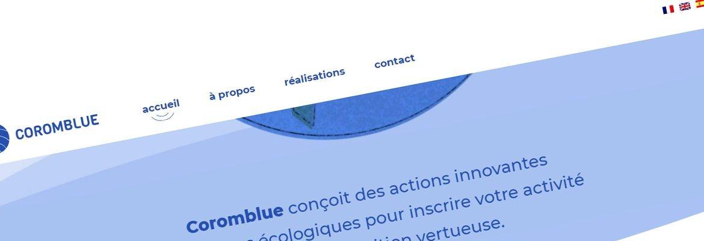 Coromblue – Site vitrine WordPress